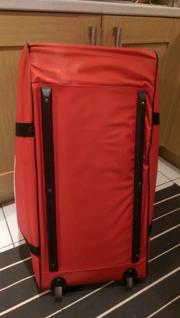 Bottom view of the Badminton England 100 litres badminton bag with wheels